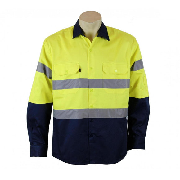 HiViz Cotton Shirt -  Long Sleeve w/ Tape