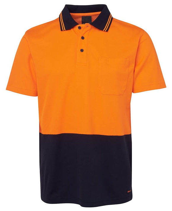 HiViz Polo - Sort Sleeve