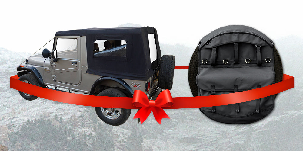 Armoro Combo offer - Soft Top for Mahindra Thar + Spare Storage Bag