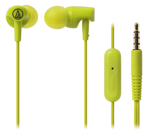 Audio-Technica SonicFuel ATH-CLR100ISLG in-Ear earphones with Mic (Lime Green)