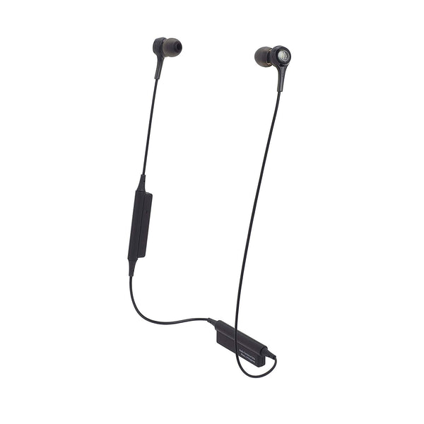 Audio-Technica ATH-CK200BTBK Bluetooth In-Ear Earphones with In-Line Mic & Control, Black