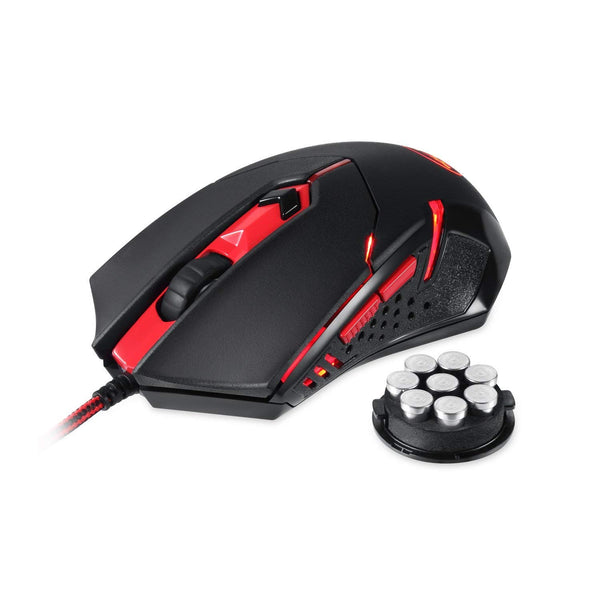 Redragon M601 CENTROPHORUS gaming Mouse , 6 Buttons, Weight Tuning Set