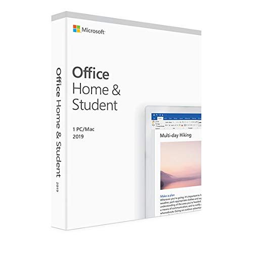 Microsoft Office 2019 Home & Student 1 user, 1 Device - Download for Mac, PC