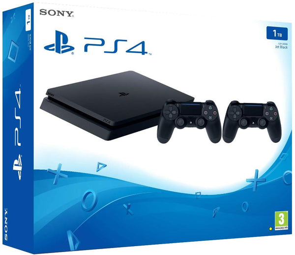 Sony PS4 Pro 1 TB Slim Console with Additional Dualshock Controller Black