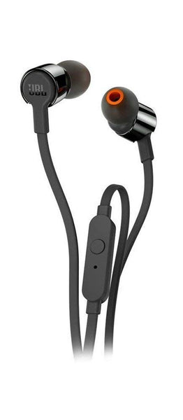 JBL T210 Pure Bass in-Ear earphones with Mic (Black)
