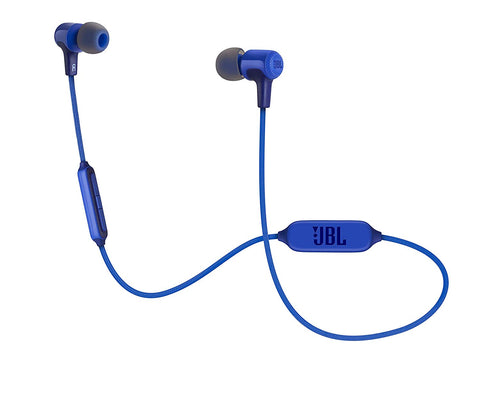JBL E25BT Bluetooth Wireless in-Ear Earphones with Mic (Blue)