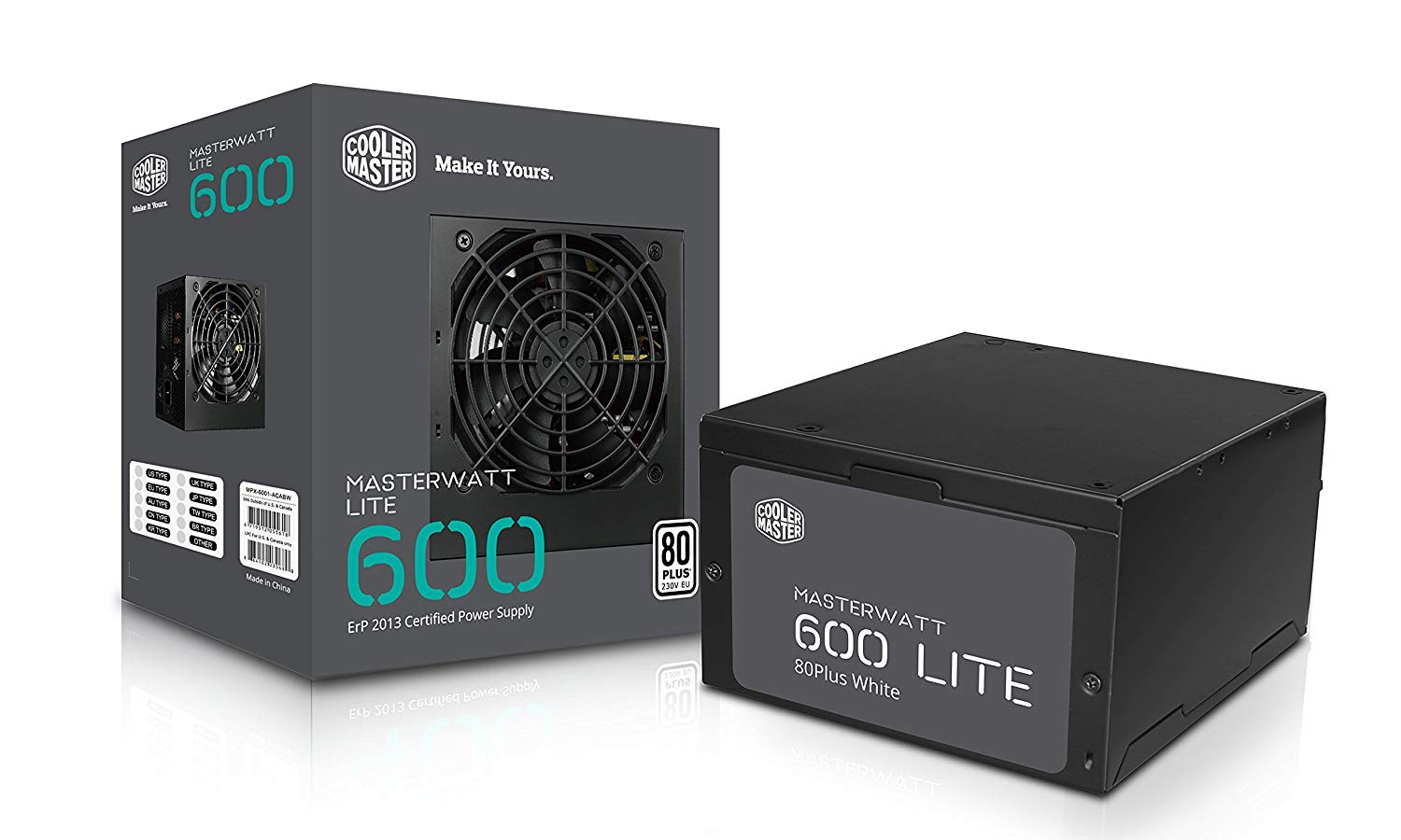 Cooler Master MasterWatt Lite 600-Watt Non-Modular Power Supply