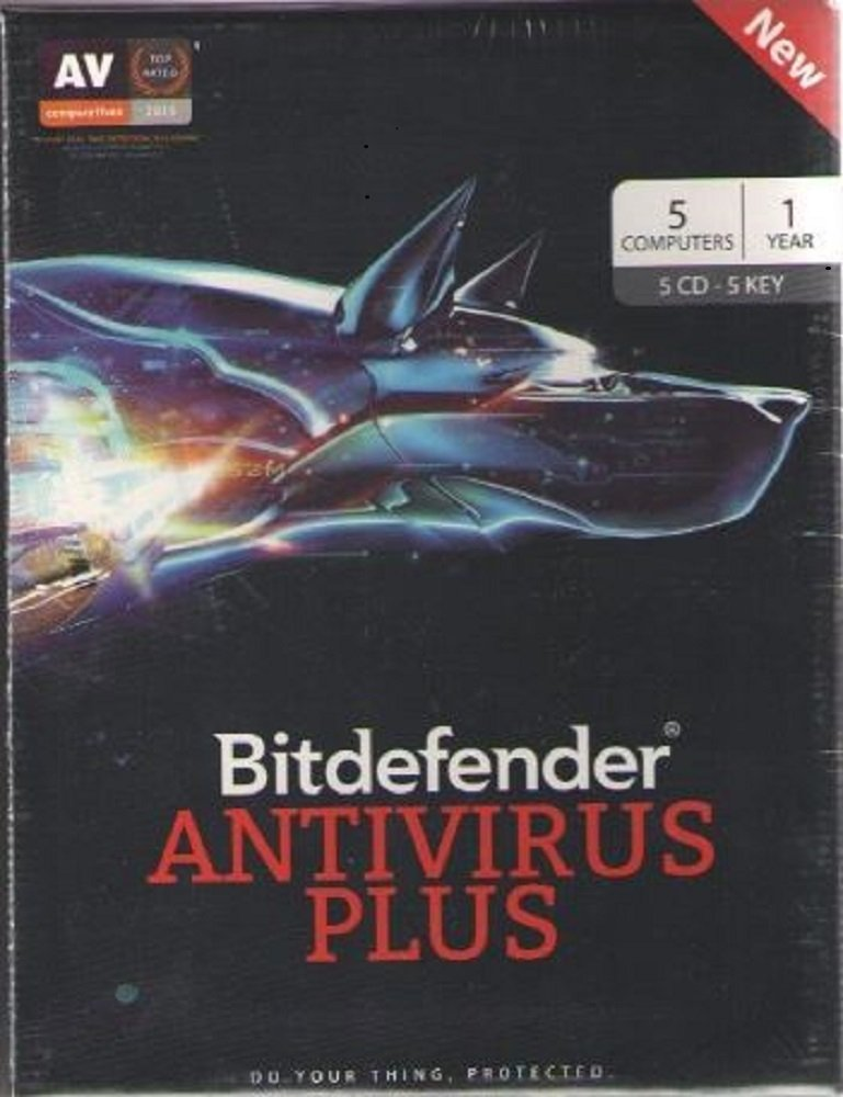 Bitdefender Antivirus Plus 5 Device 1 Year (CD)