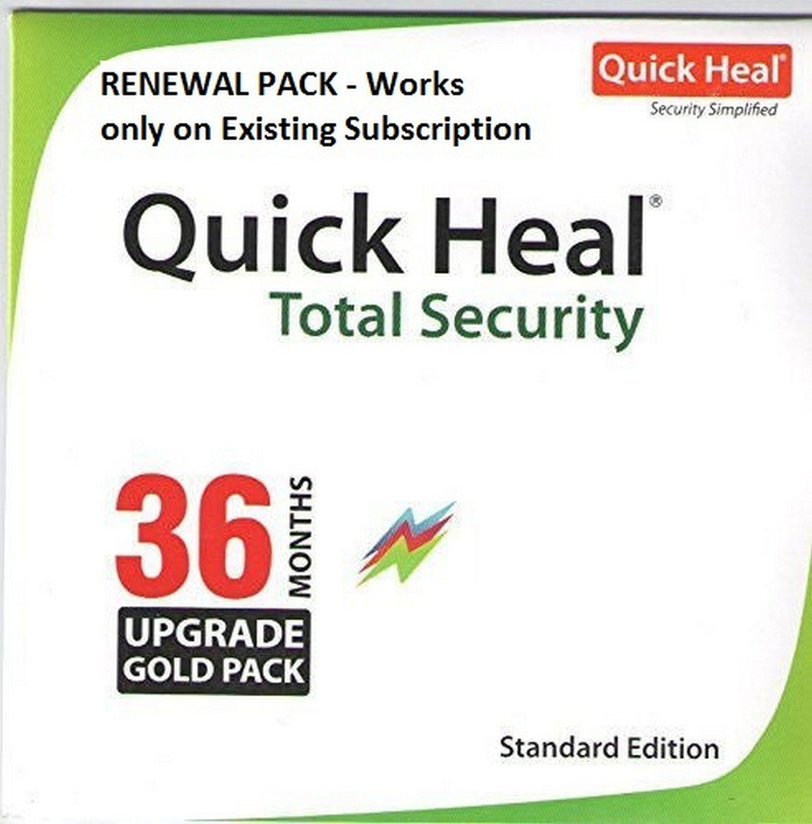 Quick Heal Total Security Renewal Upgrade Gold Pack - 1 User, 3 Year (CD)