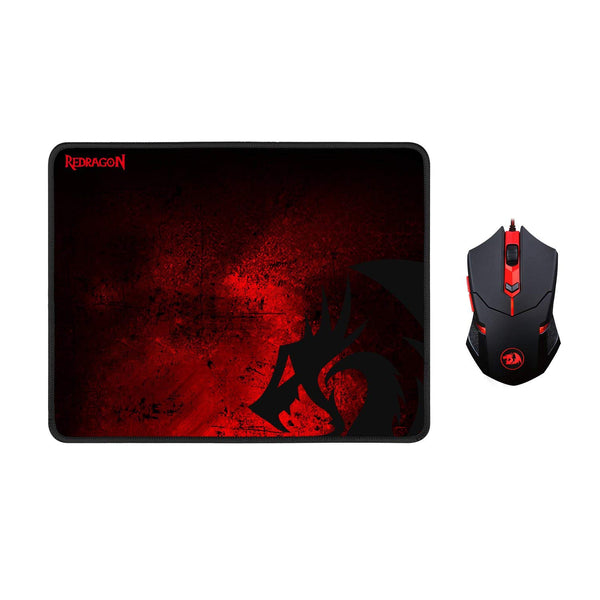 Redragon M601-BA Red LED 3200 DPI Gaming Mouse + Large Gaming Mousepad