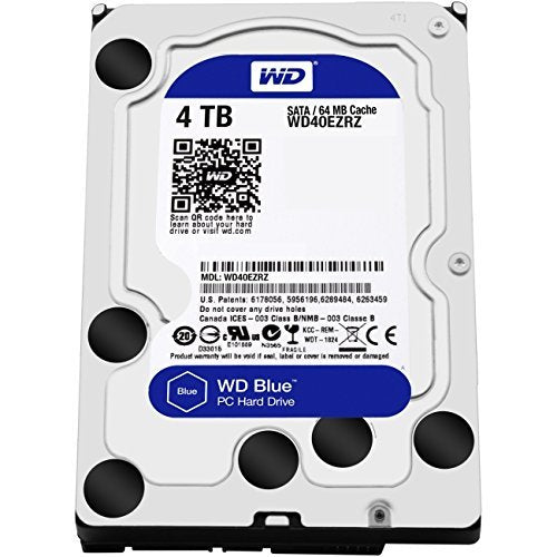 Western Digital Blue 4TB Internal Hard Drive (Western Digital40EZRZ)