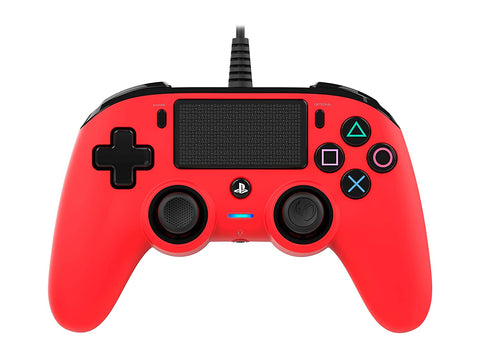 Nacon Wired Compact Controller for PS4 (Red)