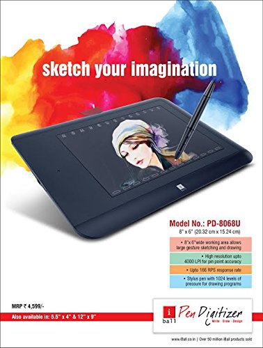 "iBall pen Tablet 8""x6"" PD 8068u"