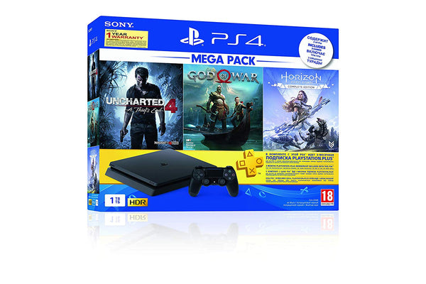 Sony PS4 1 TB Slim Console Free Games: God of War/Uncharted 4/Horizon Zero Dawn
