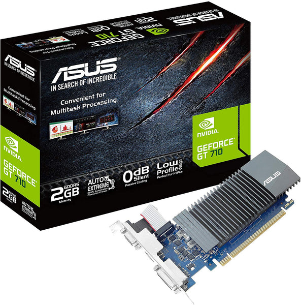 ASUS GeForce GT 710 2GB GDDR5 HDMI VGA DVI Graphics Card Graphic Cards GT710 SL 2GD5 CSM