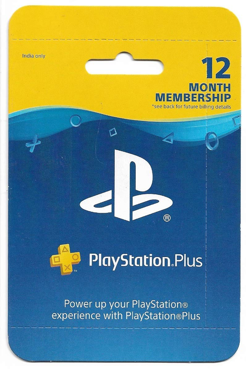 Sony PlayStation Plus 12 Months Card Indian PSN Account (PS Plus)