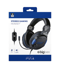 Bigben official Sony licensed Stereo Headset for PS4, PC (Black)