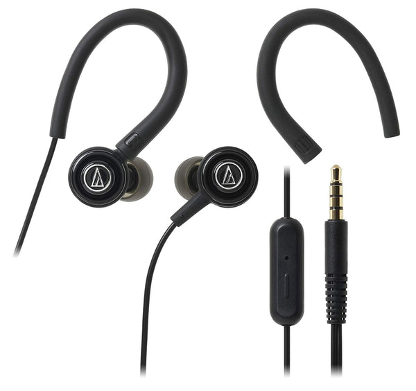 Audio-Technica SonicSport ATH-COR150ISBK in-Ear Headphones with Mic (Black)