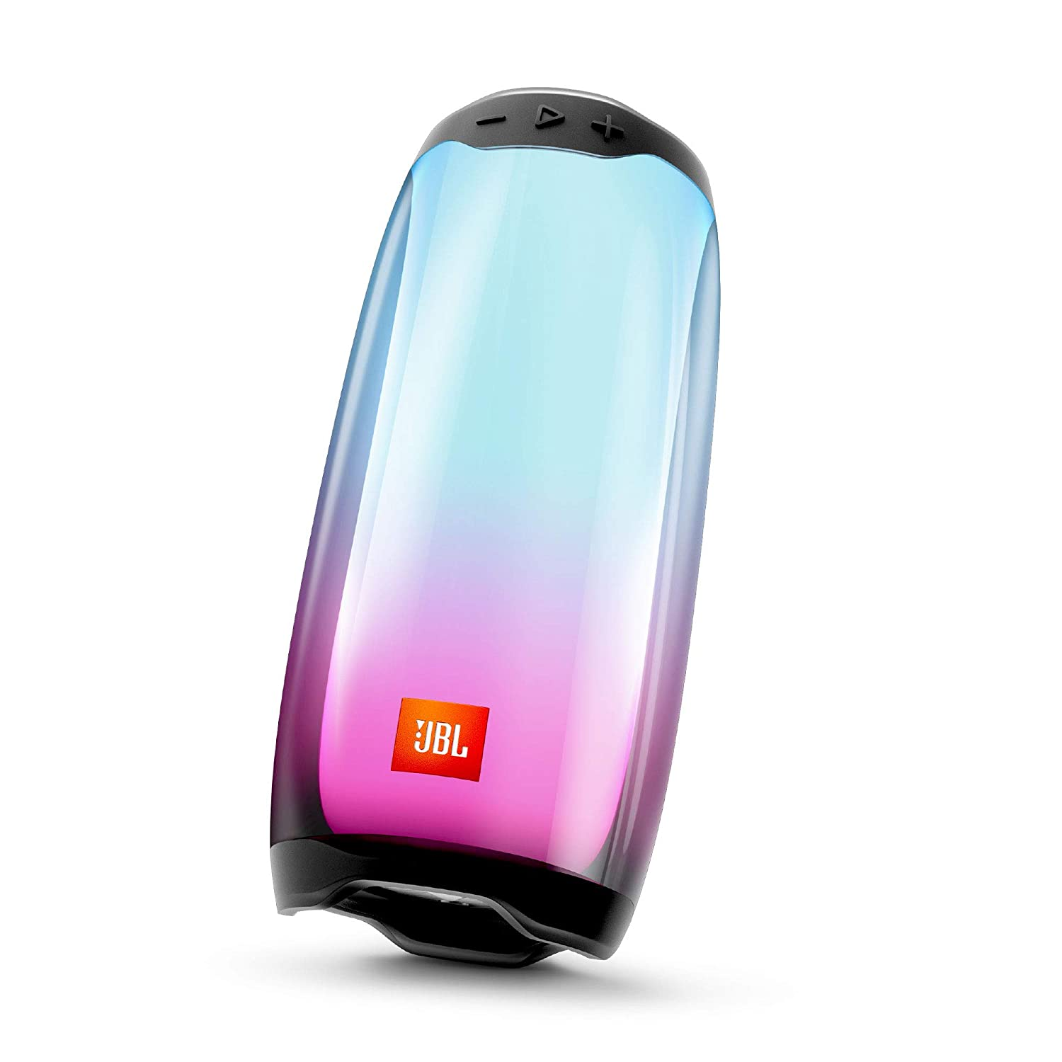 JBL Pulse 4 Portable Bluetooth Speaker with 360-Degree LED Lightshow, PartyBoost (Black)
