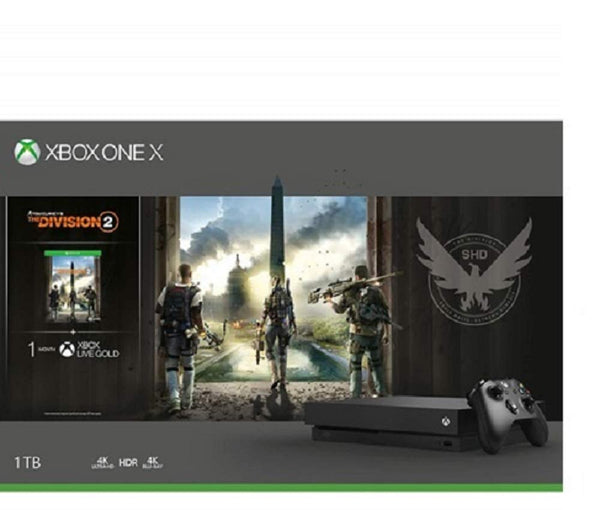 Microsoft Xbox One X 1TB Console Tom Clancy's the Division 2 Bundle