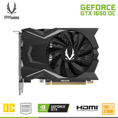 ZOTAC GeForce GTX 1650 OC Edition 4GB GDDR5 Graphics Card (ZT-T16500F-10L)