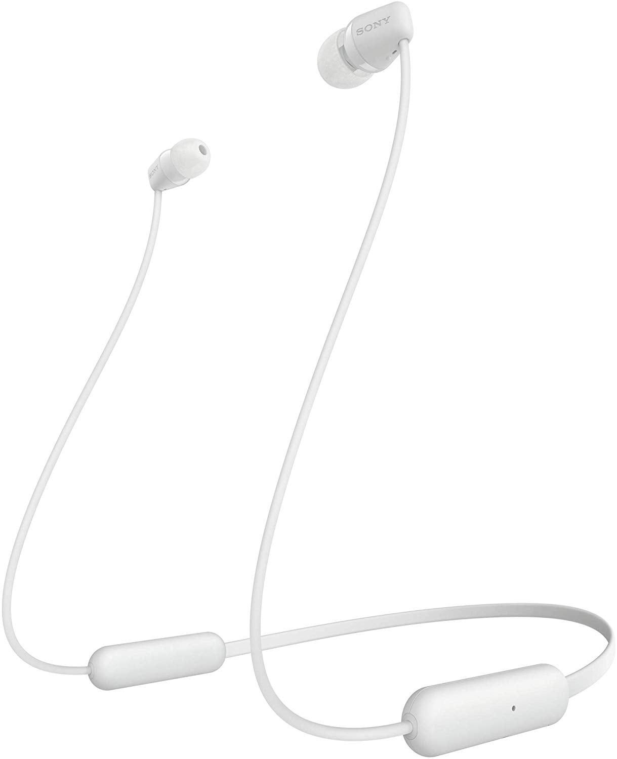 Sony WI-C200 Wireless Neck-Band Headphones with up to 15 Hours of Battery Life - White
