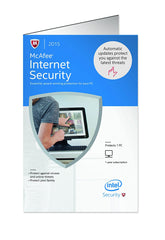 McAfee Internet Security - 1 User, 1 Year (CD/DVD)