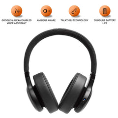 JBL Live 500BT Wireless Over-Ear Voice Enabled Headphones Black