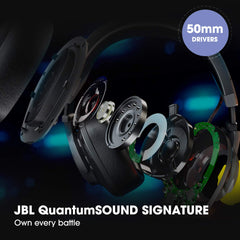 JBL Quantum 200 Wired Over-Ear Gaming Headset with Flip-up Mic (Black)
