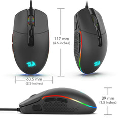Redragon Invader M719 Wired USB Gaming Mouse Black