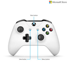 Microsoft Xbox One Wireless Controller with Bluetooth With 3.5 mm Jack White