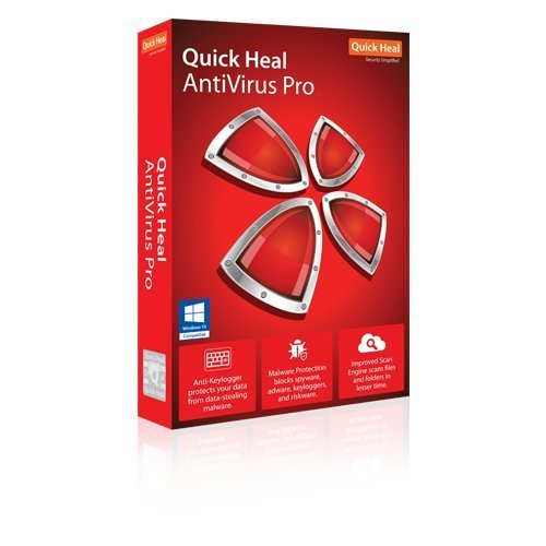 Quick Heal Antivirus Pro Latest Version - 2 PCs, 1 Year (DVD)
