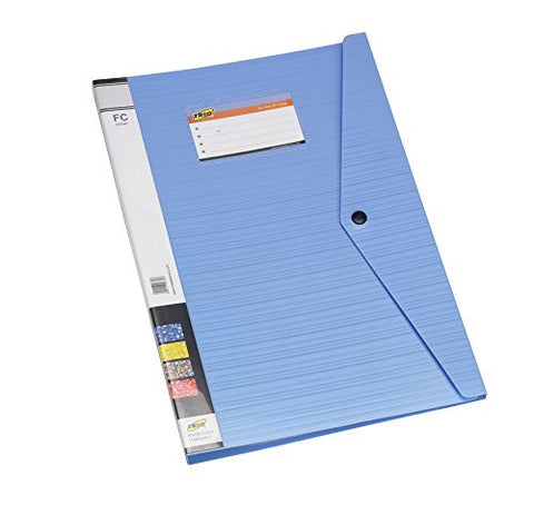 TRIO 520DBF Display File 20 Pockets with Punchless Clip FC (Set Of 2 Blue)