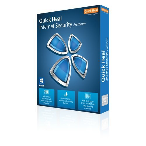 Quick Heal Internet Security Latest Version -  3 PCs, 3 Years (DVD)