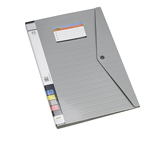 TRIO 520DBF Display File 20 Pockets with Punchless Clip FC (Set Of 3 Grey)