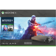 Microsoft Xbox One X 1TB Console - Gold Rush Special Edition Battlefield V Bundle