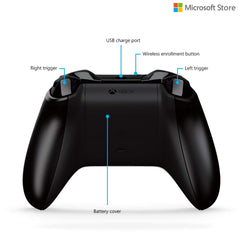 Microsoft Xbox One Wireless Controller with Bluetooth (With 3.5 mm Jack) (Black)