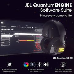 JBL Quantum 400 Over-Ear Gaming Headset , Boom Mic (Black)