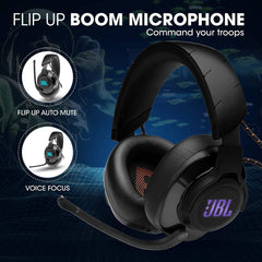 JBL Quantum 600 Wireless Over-Ear Performance Gaming Headset , Wireless Connectivity,14 Hrs Battery Life(Black)