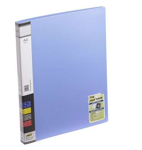 TRIO 601A Display File 20 Pockets A/4 (Set Of 4 Blue)