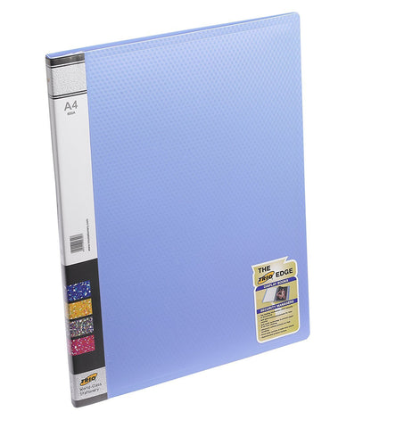 TRIO 600A Display File- 10 Pockets A/4 (Set of 4,Blue)