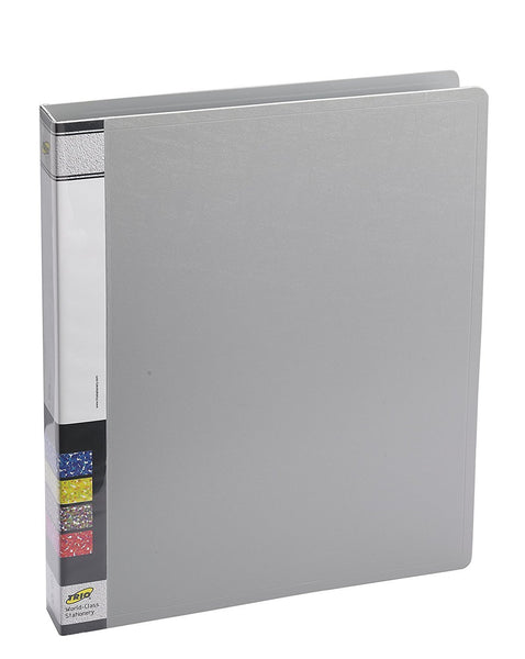 TRIO 08A Ring Binder 2D 25mm A4 (Set Of 4 Grey)