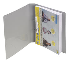 TRIO 05A Ring Binder File 2-D 25MM Ring A/4 (Set Of 4 Grey)