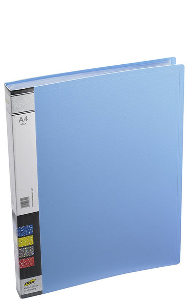 TRIO 604A Display File 40 Pockets A/4 (Set Of 2 Blue)