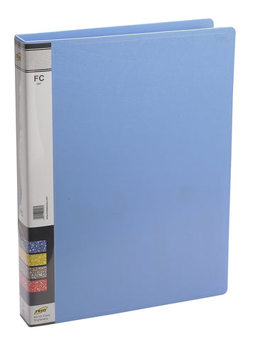 TRIO 05F Ring Binder File 2-D 25MM Ring F/C (Set of 4 Blue)