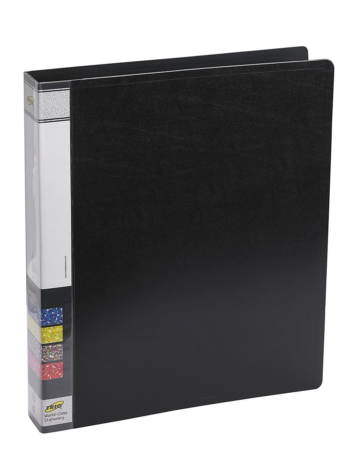 TRIO 08A Ring Binder 2D 25mm A4 (Set Of 4 Black)