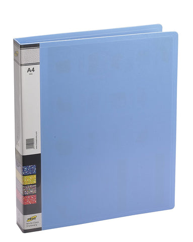 TRIO 05A Ring Binder File 2-D 25MM Ring A/4 (Set Of 4 Blue)