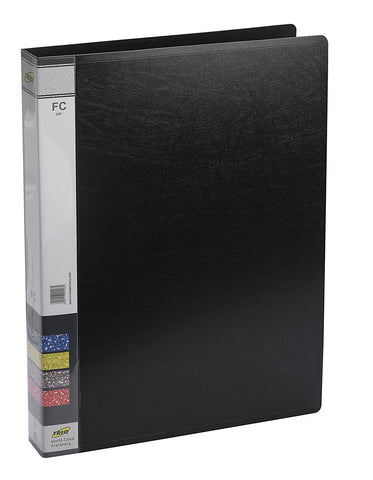 TRIO 05F Ring Binder File 2-D 25MM Ring F/C (Set of 4 Black)