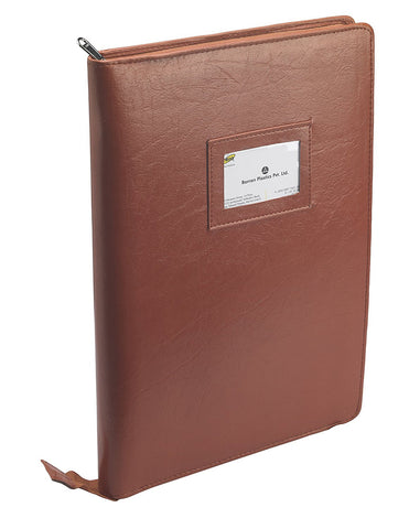 TRIO UB2RF Urban Binder Folio With Pad F/C Tan