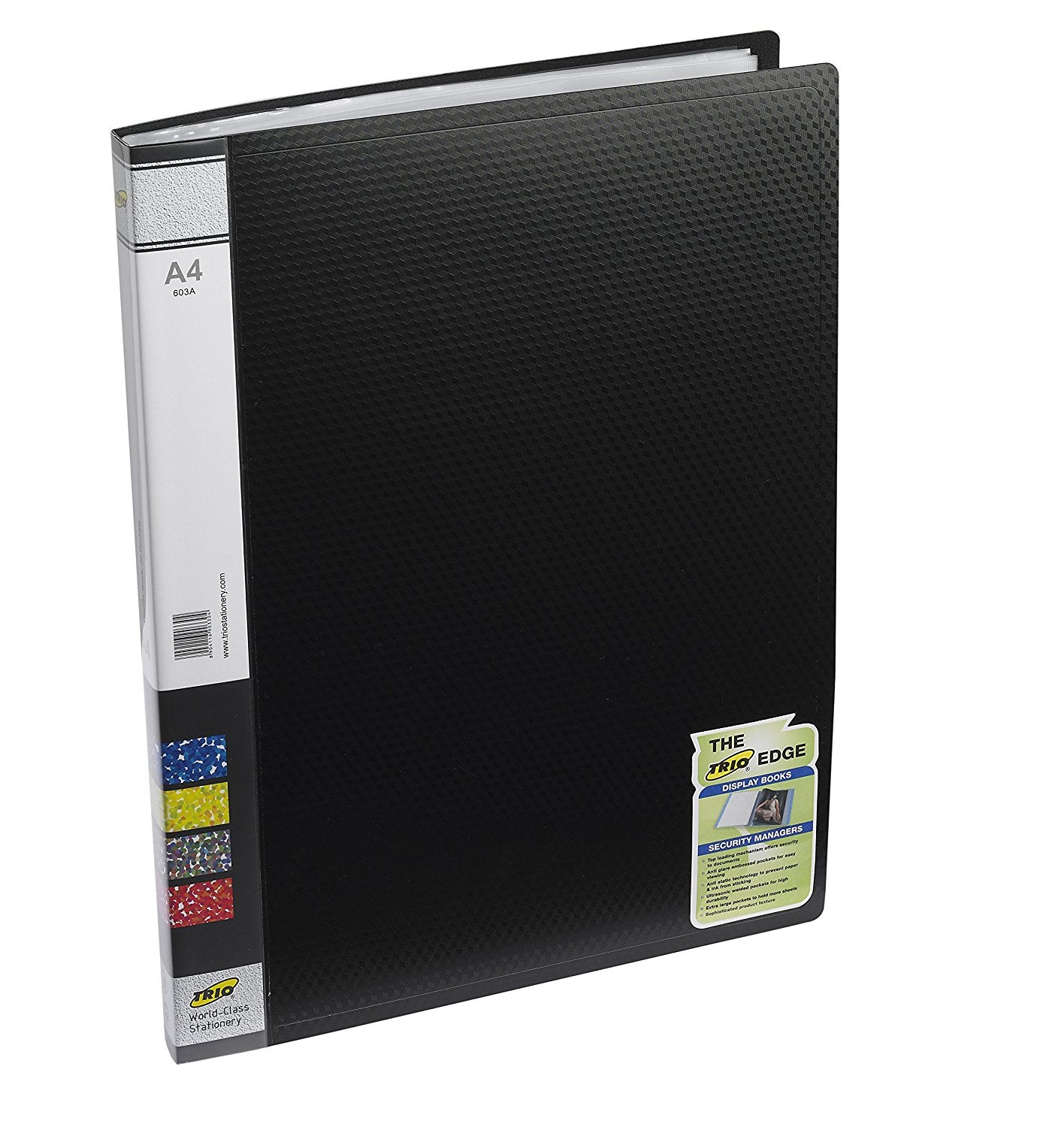 TRIO 603A Display File 30 Pockets A/4 (Set of 2 Black)